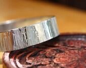 Wide sterling silver bangle bracelet-Waterfall