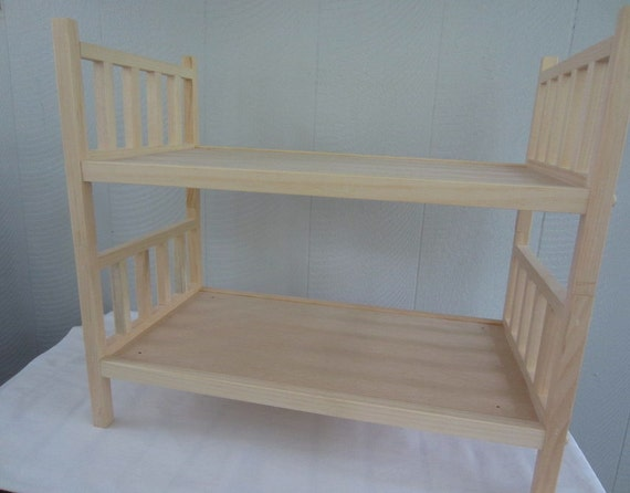 American Girl Doll Bed 18 inch Wood Doll Bed - 2 singles or bunk bed