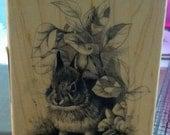 DESTASH Beautful Bunny Rubber Stamp