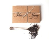 Tea Wedding Favors. Rustic winter wedding favors. Hand-crafted with custom stamp options. Set of 20.