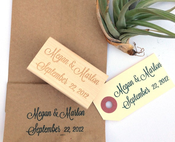 "RESERVED // Custom Calligraphy Stamp. Custom Stamp 1""x2"""