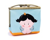 Illustrated handmade purse  title: Princess