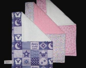 Burp Cloth Trio - Girl