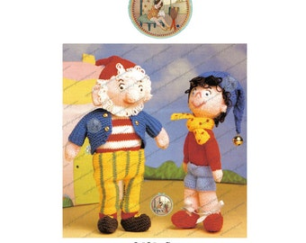 Noddy and Big Ears Classic Soft Toys to Knit - Vintage Digital Pattern - PDF Instant Download - PrettyPatternsPlease