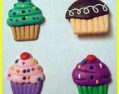 8pc Cupcake Button Set