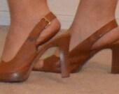 Peep Toe Uh-Oh Nude Heels