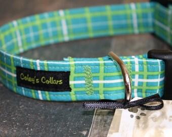 """Dog Collar Custom """"The Pawsitively Plaid"""""""