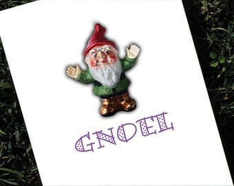 Gnome Christmas Card