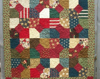 Christmas Lap Quilt Thimbleberries Christmas Punch Handmade Winter Holiday