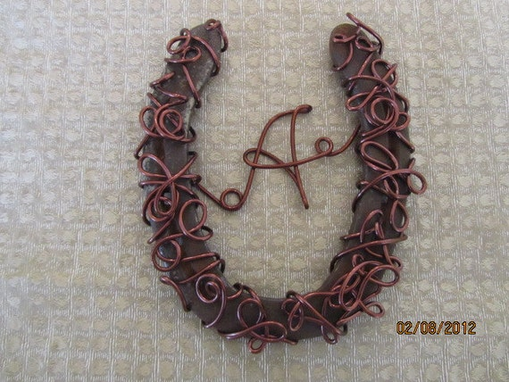 Horseshoe, Personalized lucky Horseshoe, horse shoe art, wall decor, western and rustic