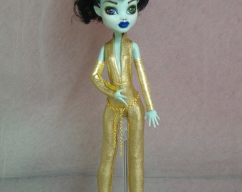 Gold Lady Catsuit  for Your Monster High Doll