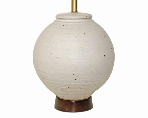 Danish Modern Pottery Lamp by Affiliated Craftsmen . LG 14 inch diameter