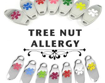 TREENUT ALLERGY Medical ID Pre-Engraved, for Beaded Bracelets