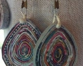 TEARS coiled recycled paper arrings
