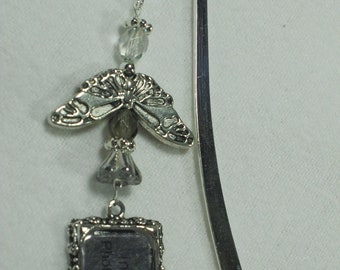 Bookmark Gifts for Readers Angel Friendship Gift Bible Marker Read More Books Shepherds Hook Angel Charm Picture Book Worm A104