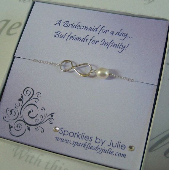 Silver Wedding Gifts For Friends : Friends for Infinity, Fancy Bridesmaids Invitation with Silver ...