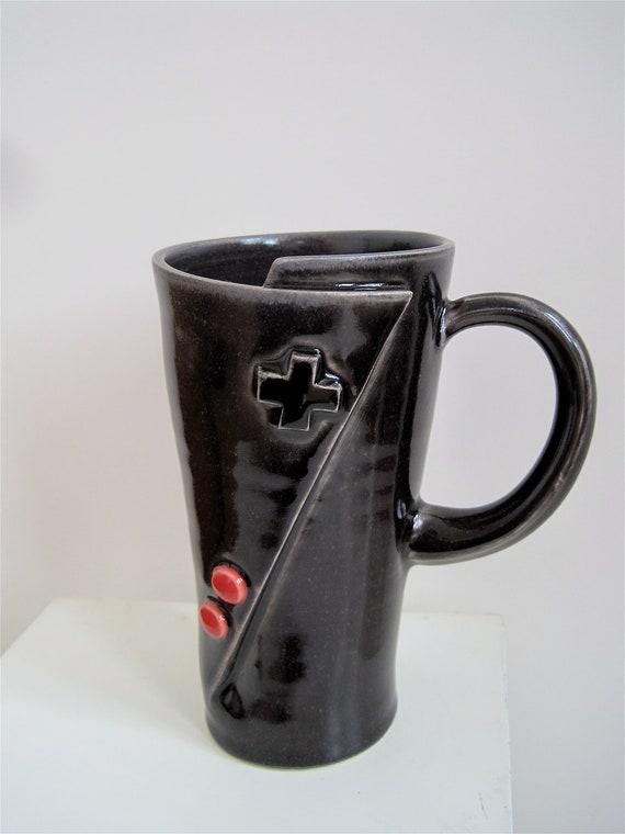Custom Listing for Shallin - Lefty Original Nintendo Controller Coffee Mug for the Vintage gamer.  Oldschool Love