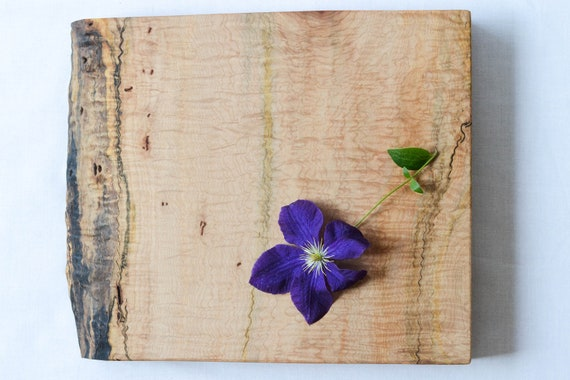 Extra Thick, Natural Edge Wood Cutting Board, Salvaged Bigleaf Maple 679