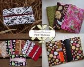 2 Pattern Bundle - Passport Holder & Tissue Holder PDF Sewing Patterns - INSTANT DOWNLOAD- by BlissfulPatterns