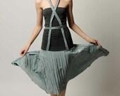 Criss-Cross Corset Drop-waist Dress