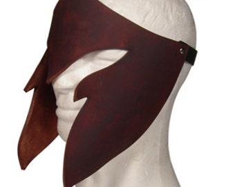 Elven mask hardened leather , Larp, fantasy costume