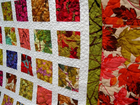 Simply AUTUMN MEDLEY 54x74 modern fall colors quilt