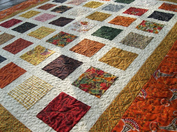 Simply GIVE THANKS 54x60 autumn colors sofa quilt CUSTOM