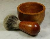 Hand-turned  shaving kit