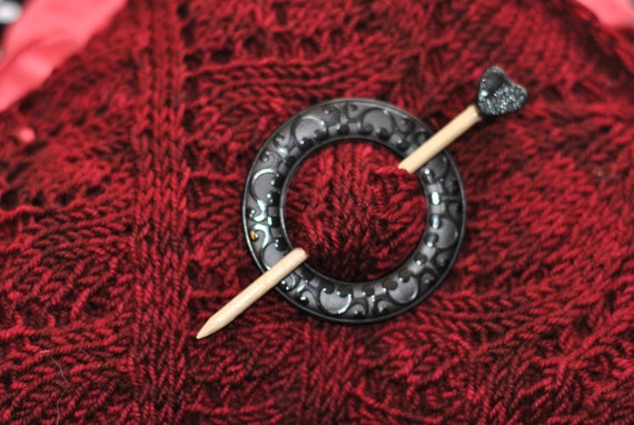 Victorian Love Shawl Pin