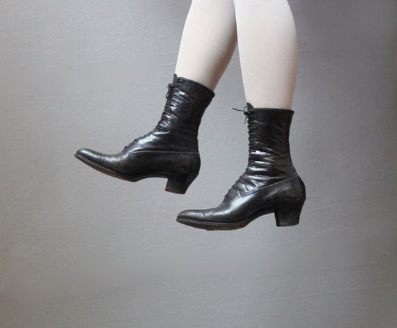 black victorian boots size 8