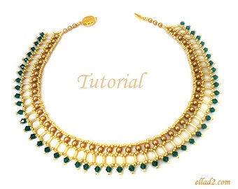 Tutorial Cleo Necklace - Beading pattern PDF