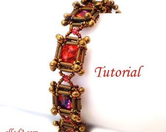 Bugle Square Bracelet - Beading tutorial PDF