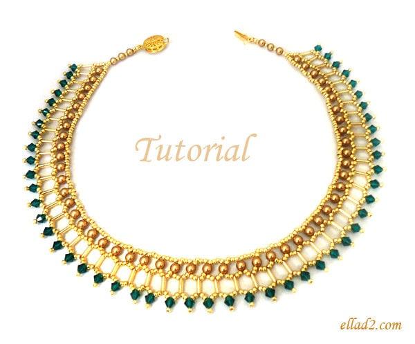 tutorial cleo necklace beading pattern pdf