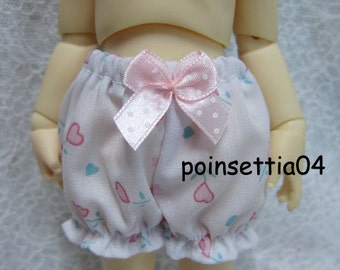 Super Dollfie Yo SD Pink Heart Flower Bloomers