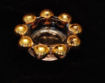 Candlewick Gold Balls, Open Salt Imperial Glass co.
