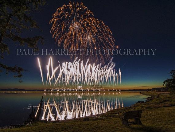 Fine Art Photography Paul Harrett Photography Fireworks July 4th Lopez Island- San Juan Islands- 16 X 20 print