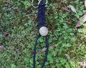 Leather Celtic Bar Braided Keychain