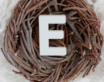 Alphabet Letter Art Photography -  Letter E Wall Decor, Letter E, Letter Art Wall Decor, Nest Print, Initial Art, Monogram Art Print