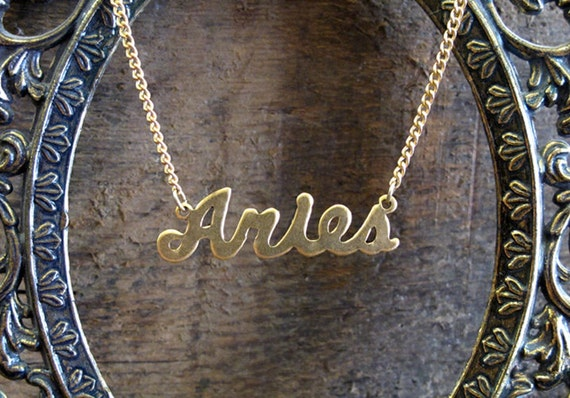 Aries Astrological Sign Necklace