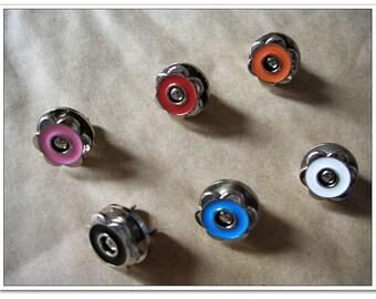 6sets 17mm hexapetalous flower Magnetic Snaps bag button purse Magnetic Snaps buttons