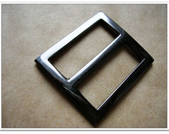 10pcs 1 inch (inner size) gunmetal alloy rectangle sliders 2mm thickness
