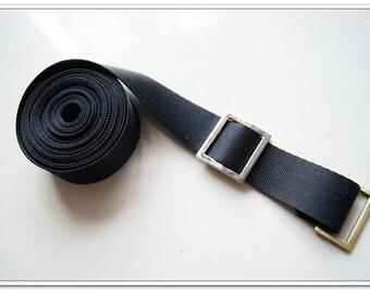 5 yards black nylon webbing 1 inch (25mm) bag strap purse strap