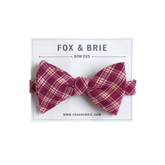Mulberry Plaid (bow tie)