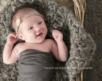Barley Puff Newborn Baby Blanket Photo Prop