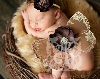 Beige Faux Fur Rug Nest Photography Photo Prop 30x35 Newborn Baby Toddler