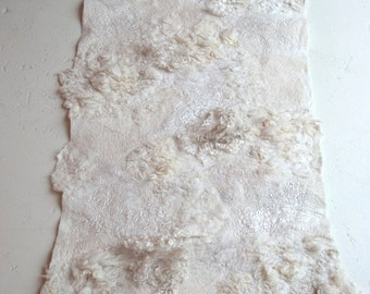 felted floor piece or wallhanging 'whitescape'