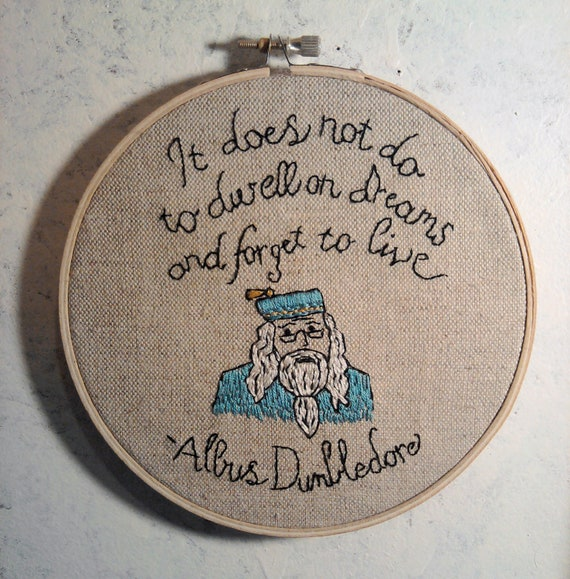 Harry potter quote embroidered wall ornament
