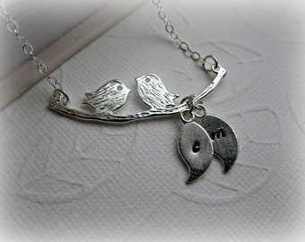 Love Birds Personalized Necklace