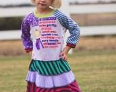 Olivia Upcycled Long Sleeve T shirt Dress Size 3/4