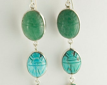 Scarab Forest Earrings